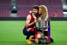 Pin for Later: Shakira Can't Keep Her Hands Off Gerard Piqué After His Big Soccer Win