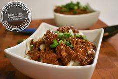 Cubes de porc à la mijoteuse à l'asiatique - Auboutdelalangue.com (6) Pork Recipes, Slow Cooker Recipes, Asian Recipes, My Recipes, Crockpot Recipes, Dessert Recipes, Favorite Recipes, Ethnic Recipes, Beignets
