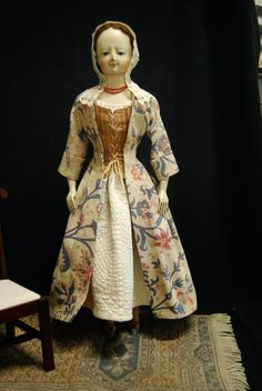 """Babes from the Woods"" by Kathy Patterson: 23 1/2"" Lady Madeline, A Wooden Queen Anne Doll"