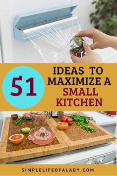 Get everything you need organized in your kitchen even when it's a small kitchen. Check out these tips!