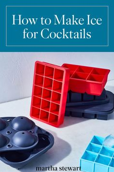 How to Make Ice for Cocktails (and Other Drinks) | Ice is a crucial component of any cocktail recipe, and it deserves just as much thought as the spirits, bitters, juices, and other mixers you put into your drink.  Here are the ice shapes that any budding mixologist should be familiar with.  #cocktails #marthastewart