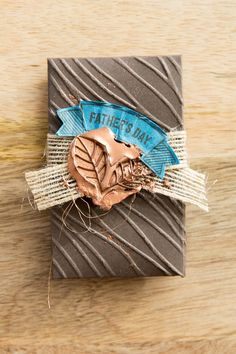 Faux wax seal gift card holder