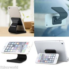 2 IN 1 Desk Cellphone Stand Holder Micro Suction CAR Mount Cradle Universal NEW | eBay