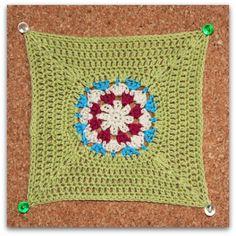 Cuadrado de Crochet Agosto