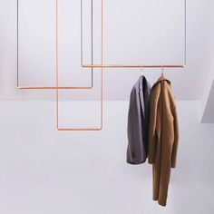Copper hangers KAPSTOK by Studio Gk15, you can design your own wardrobe system.
