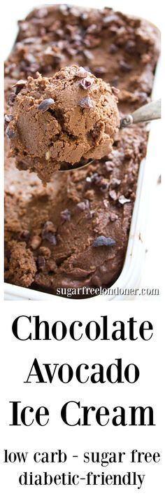 Enjoy this rich and creamy chocolate avocado ice cream as a sugar free, low carb and keto treat. And feel that satisfaction of hiding a vegetable in a dessert! 4.9 net carbs per portion.