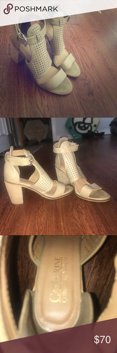 Catherine Malandrino nude heeled sandal Nude sandal with about a 1.5inch heel. Size 7. They have only been worn once! Been sitting in my closet so it's time for someone else to actually show them this lovely world!! Catherine Malandrino Shoes Heels