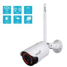Zjuxin 1080P IP AI Camera HD Cloud Wireless Wifi Outdoor  Price: 36.96 & FREE Shipping  #allgadgetdealz Best Home Security, Security Cameras For Home, Camera Supplies, Wi Fi, Wifi Names, Wireless Ip Camera, Wireless Home Security Systems, Play, Hd 1080p