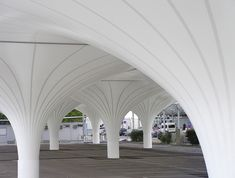 HPSA undulates carpark membrane at linz airport in austria