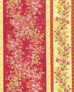 Forever Love - Primrose Garden Stripe - Ruby Red
