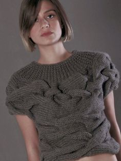 AQUA short sleeves sweater by NihanAltuntas on Etsy, $295.00
