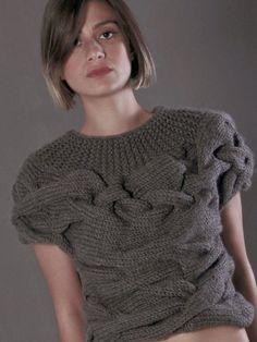 AQUA short sleeves sweater van NihanAltuntas op Etsy