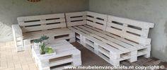 Meubelen van Pallets - Wij leveren meubels van pallets voor zowel binnen als buiten. Kom binnen en bekijk hoe leuk, creatief en mooi de palletcollectie is!