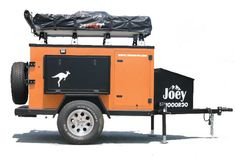 Hoooroo Joey side view exterior Lightweight Camping Trailers, Small Camping Trailer, Small Trailer, Small Campers, Airstream Trailers For Sale, R Pod, All Terrain Tyres, Off Road Adventure, Roof Top Tent