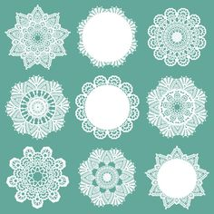 Free vector Doily Patterns (12/3) at www.shutterstock.com
