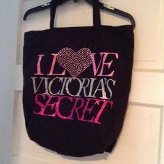 Victoria's Secret tote bag Soft corduroy type material tote bag Victoria's Secret Bags Totes