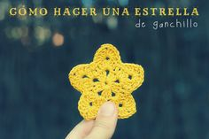 Cómo hacer una estrella de ganchillo. How to make a crochet star video tutorial