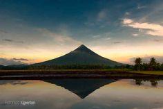 The temporary stillness of the powerful Mayon Volcano.