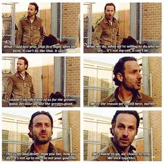 Rick's speech...1st time I ever felt I wanted to be part of his group ;)