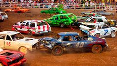 Information about the Blue Earth County Fair in Garden City, Minnesota. Nascar Racing, Drag Racing, Demolition Derby Cars, La County Fair, Popcorn Stand, Car Humor, Country Girls, Summer Fun, Cars