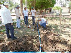 SOUSA PB: Prefeitura realiza construção de estradas e irrigação de praça