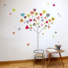 Mia Heart Tree Transfer Wall Decals
