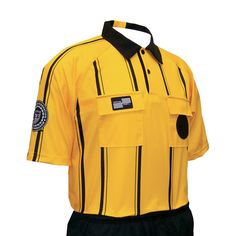 32b38944c Pro USSF Stripe Shortsleeve Referee Shirt Soccer Referee Gear