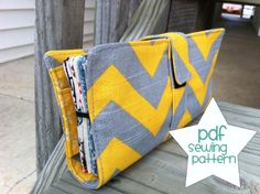 Free!!! Cash Envelope Wallet Pattern from LindsayLadon.blogspot.com ~ great PDF pattern and  very detailed instructions!