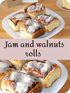 Jam and walnuts rolls (video recipe) - isabell's kitchen