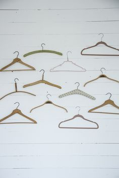 The hangers are like art
