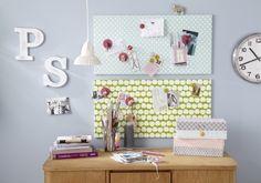 DIY Magnettafel mit Stoff und Ikea Magnettafel! Tolle Idee, leicht zum selber machen, Link=Anleitung