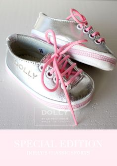 DOLLY by Le Petit Tom ® BABY LOW ITALIAN SNEAKER 2S silver