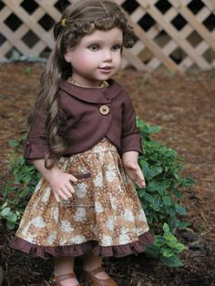 American Girl Doll Clothes - Brown Fall 18 Inch Doll Outfit - Vintage Style…