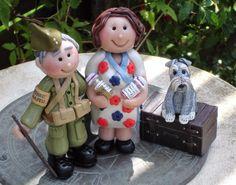 WW1 / WW2 re - enactors personalised cake toppers - Jillybeans cake toppers #Jillybeanscaketoppers