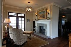 Hearth Room - traditional - living room - minneapolis - Baker Court Interiors