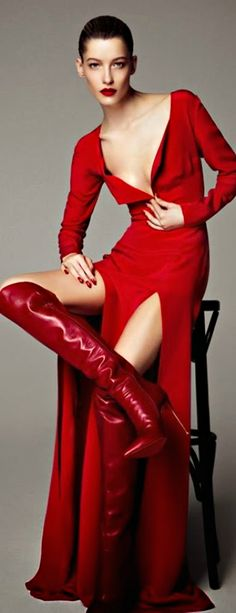 Miss Millionairess ..Red Hot Gown HARPER'S BAZAAR...