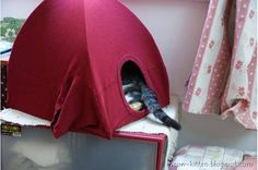 DIY Cat Tent From Old T-Shirts | Top DIY Ideas