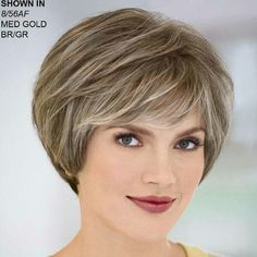 Yvonne WhisperLite® Wig by Paula Young® - Short Hair Styles Grey Hair Wig, Short Grey Hair, Short Hair Wigs, Short Hair With Layers, Hair Styles For Women Over 50, Short Hair Cuts For Women, Medium Hair Styles, Short Hair Styles, Short Layered Haircuts