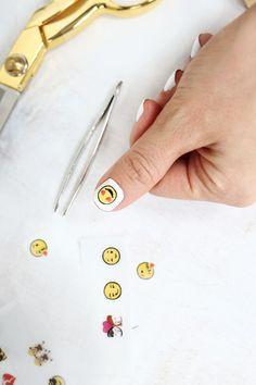 Emoji nail decals!