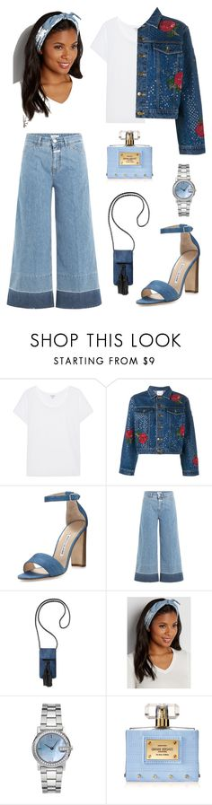 """Denim"" by trsca on Polyvore featuring Splendid, Ashish, Manolo Blahnik, Closed, Rebecca Minkoff, maurices, Gucci and Versace"