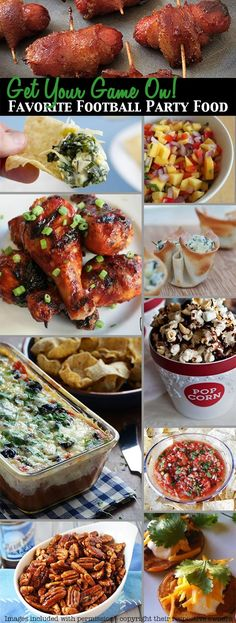 Favorite Football Party Food - over 30 great recipes from all over the web.