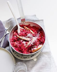 Chicken, caraway and beetroot risotto - delicious. magazine