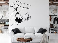 Office Wall Decor, Office Walls, Wall Art Decor, Cityscape Silhouette, Silhouette Png, Wall Sticker, Wall Decals, Gym Room At Home, Sports Decals