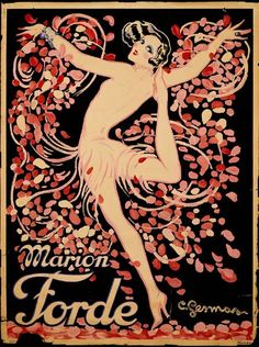 Marion Forde - Vintage French Advertising Cabaret Poster by artist Charles Gesmar