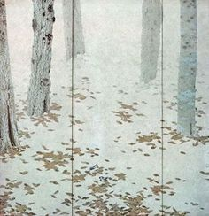 Fallen Leaves, right pair of 6-fold screens Meiji Period