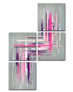 Made to order Original abstract painting. 4 piece by JoDiquez