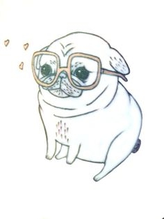 Hipster pug