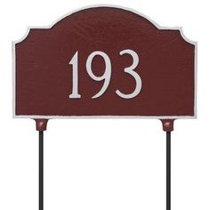 Montague Metal Products Vanderbilt Double Sided Lawn Address Plaque Finish: Swedish Iron/Silver