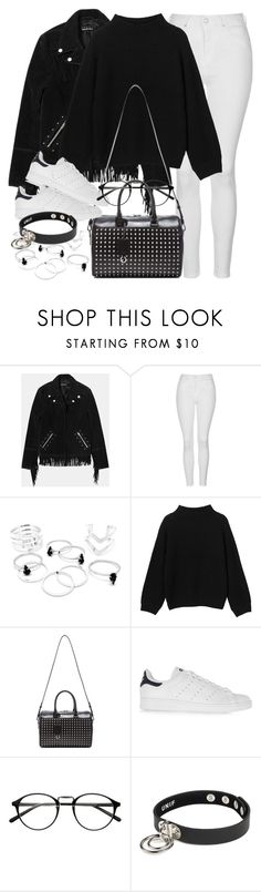 """""""Untitled #1754"""" by sophiasstyle ❤ liked on Polyvore featuring The Kooples, Topshop, Monki, Yves Saint Laurent and adidas Originals"""
