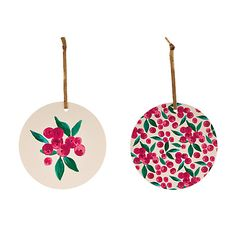 Buy John Lewis Ditsy Berry Round Gift Tags, Pack of 8 Online at johnlewis.com